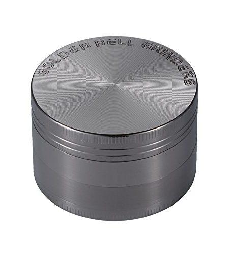 LIHAO-Pollen-Grinder-Crusher-fr-TabakSpiceKruterGewrzeHerbKaffee-4-teiliges-Set-mit-Pollen-Scraper-Nickel-Schwarz-0