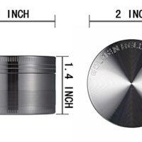 LIHAO-Pollen-Grinder-Crusher-fr-TabakSpiceKruterGewrzeHerbKaffee-4-teiliges-Set-mit-Pollen-Scraper-Nickel-Schwarz-0-8